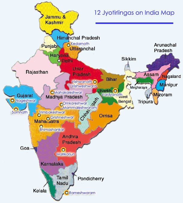 12-jyotirlingas-on-india-map