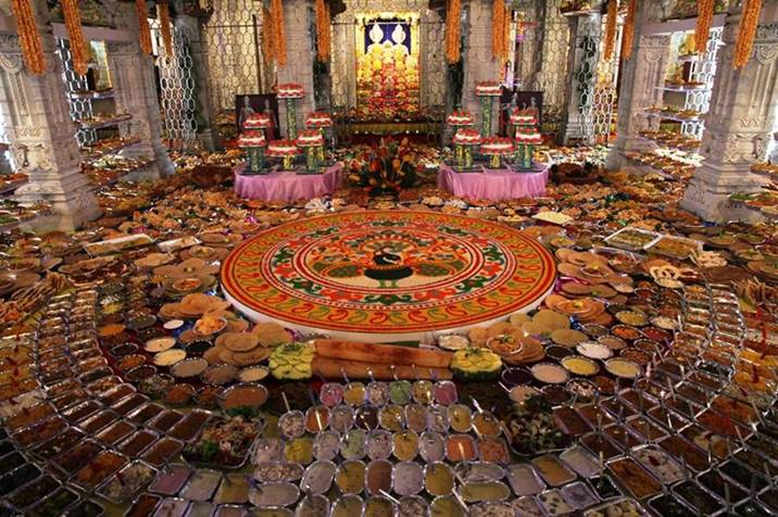 Chappan bhog shree hindu temple and community centre for Annakut decoration ideas
